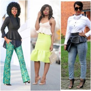 how to style peplum