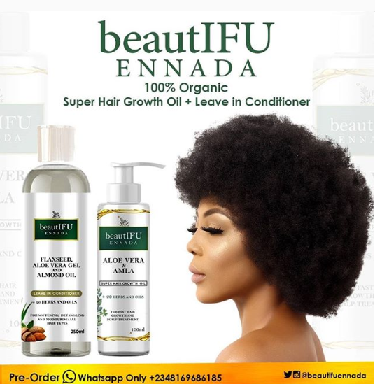 Ifu Ennada Launches Natural Hair Care Products Fabwoman