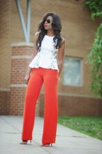 how to style a peplum top