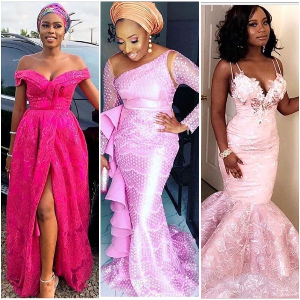 Pink Asoebi Styles