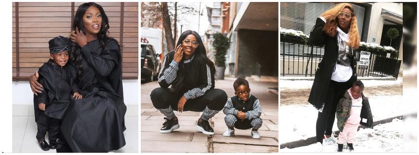 Tiwa Savage And Son Photos