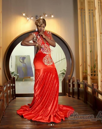 Beautiful Photos Of BBNaija Housemate,  Alex Elegant In Red