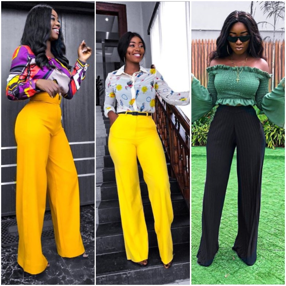 10 Times Media Girl, Ariyike Dimples Showed Us How To Rock Palazzo / Wide Leg Pants