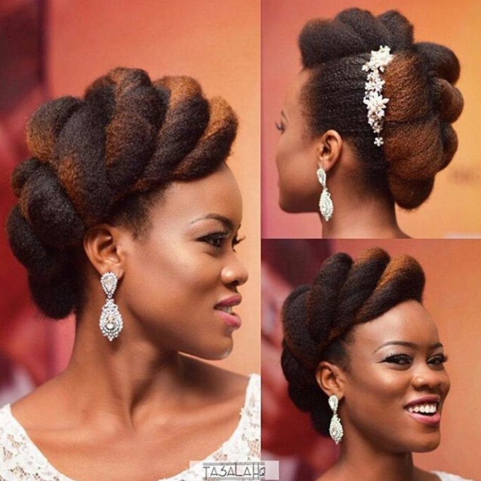 Latest Natural Hair Bridal Styles For Women Fabwoman