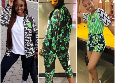 Nigerian Female Celebrities 2018 World Cup Kit