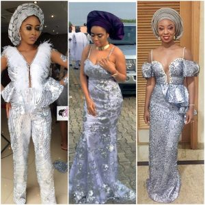 9 Silver Aso Ebi Styles That Would Help You Sparkle At This Weekend's Owambe