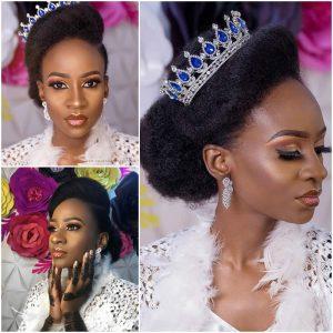 anto bbnaija 2018 natural hair bride