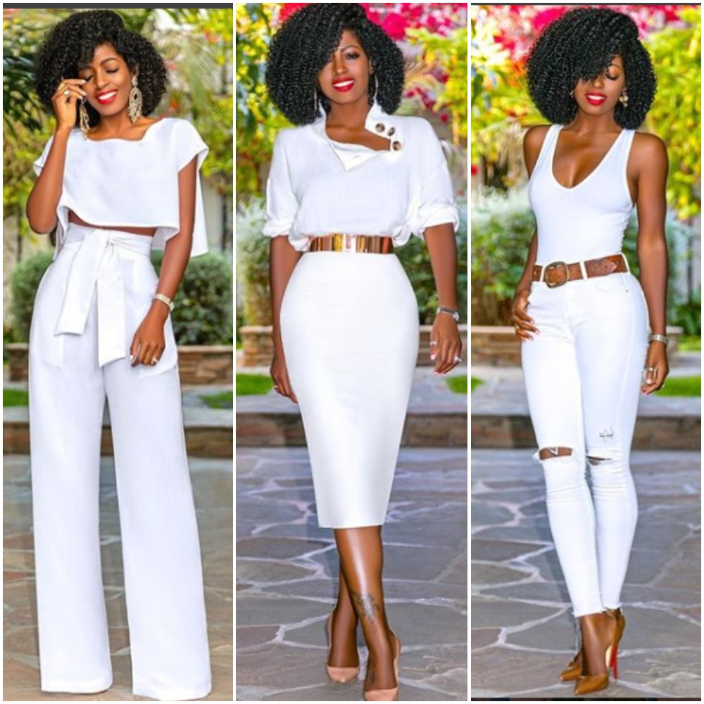 a4eb9d175ffc Folake Huntoon Rocking White Outfits