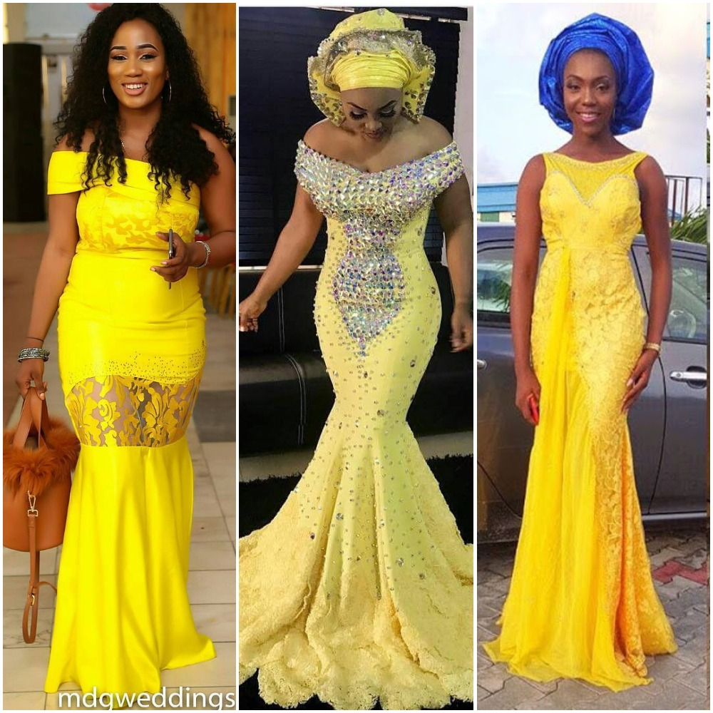 Yellow AsoEbi Styles