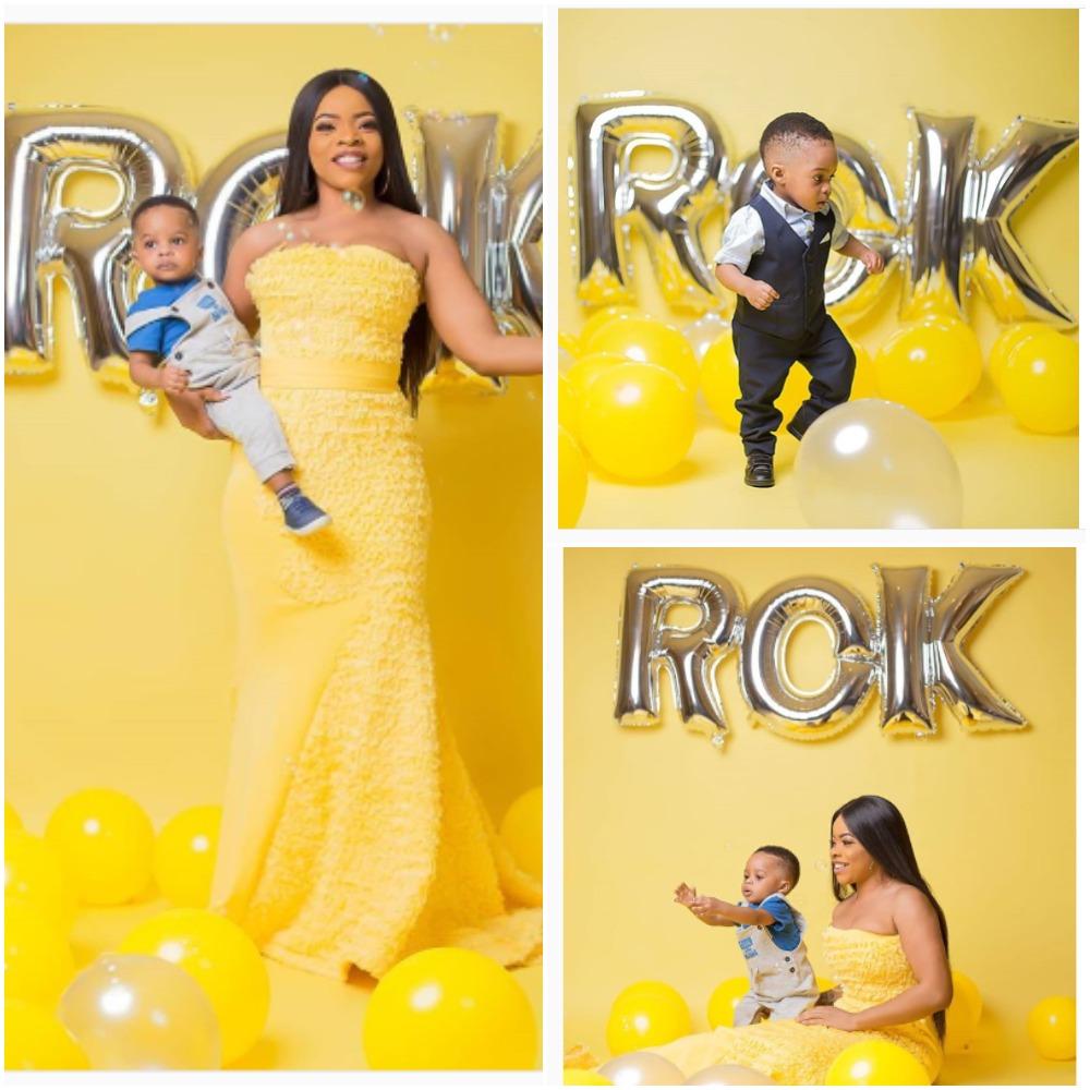 Laura Ikeji and Son Ryan