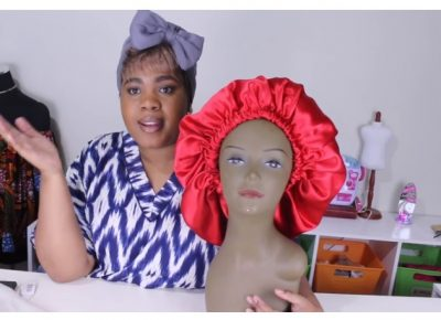 how to make a satin bonnet