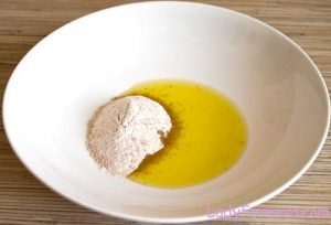 olive oil and sugar