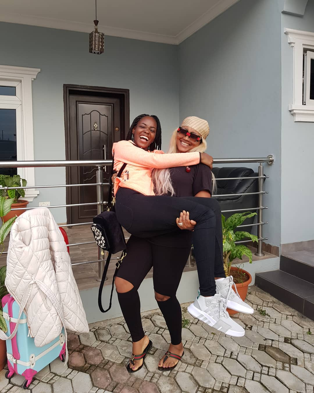 mercy aigbe sends daughter off to school - FabWoman