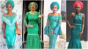 Latest Teal Green Asoebi Styles For Women Fabwoman
