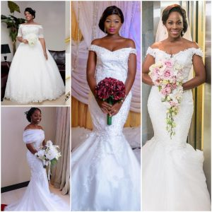 Are You An Intending Bride? Let These 9 Off Shoulder Wedding Gown Styles Inspire Your Choice
