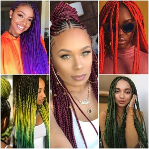 20 Colourful Box Braids Style That Can Inspire Your Next Hairdo