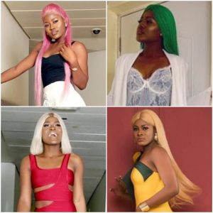 All The Times BB Naija Alex Rocked Different Colored Wigs Effortlessly