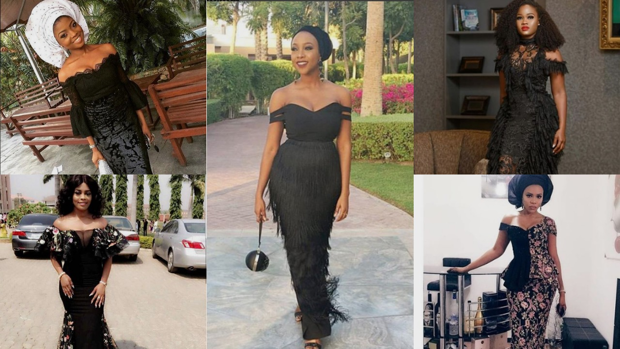 10 Black Asoebi Styles To Make You Look Fabulous This Weekend