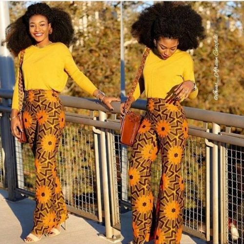 Ankara Pants Are Nice For That Stylish Woman Vibe And Right here Are 10 Methods To Rock Them ankara pant style 5 e1542284550932