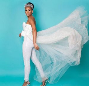 Jumpsuit Impressed Marriage ceremony Gown | Pictures jumpsuit wedding gown 4 300x292