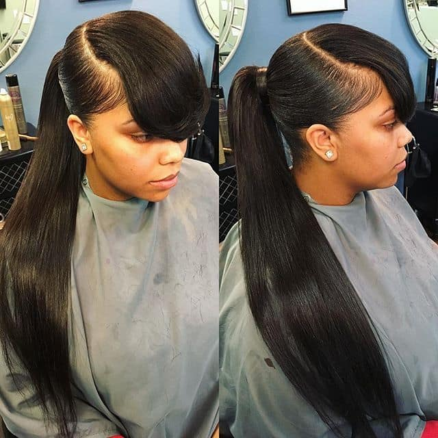 Image result for nigerian woman with ponytail hairstyle