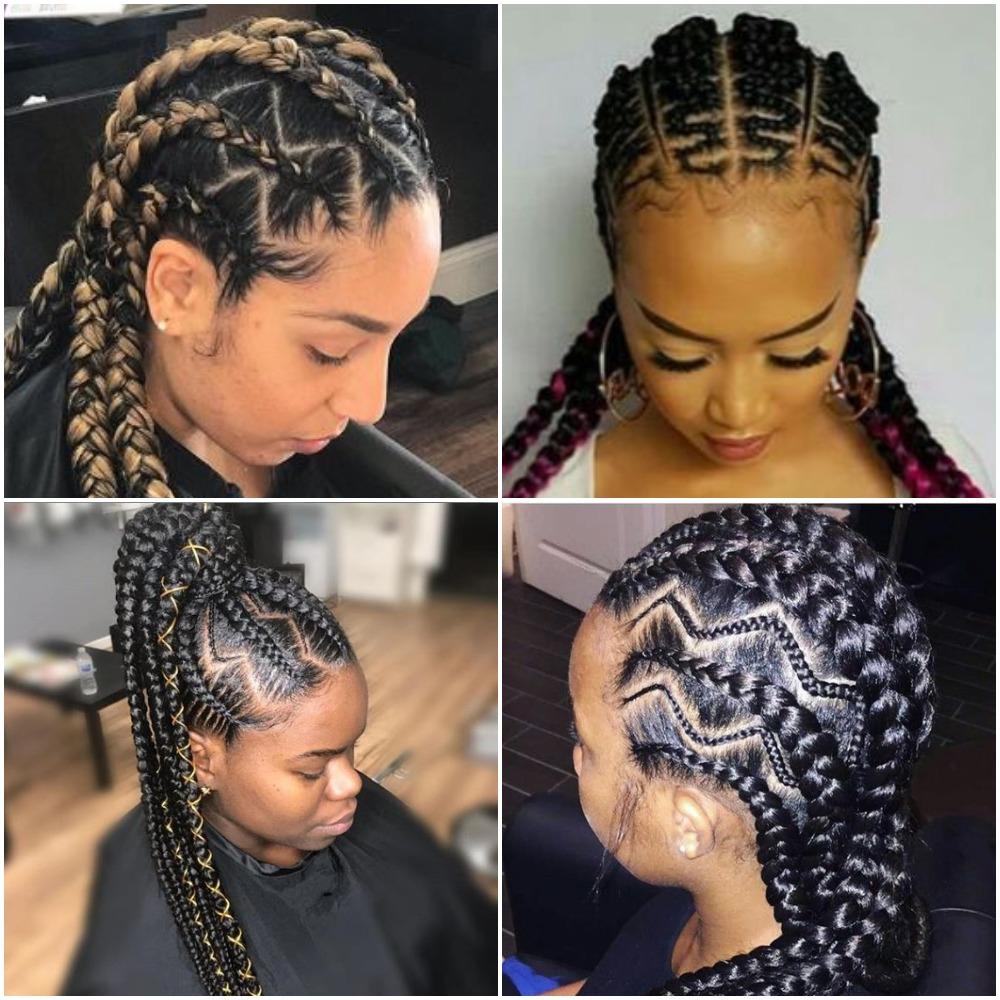Latest Zig- Zag Cornrows Hairstyles Photos FabWoman