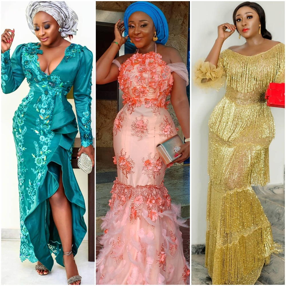 Wedding Pictures With Guest: [Photos] 6 Stunning Nigerian Celebrity Wedding Gowns That