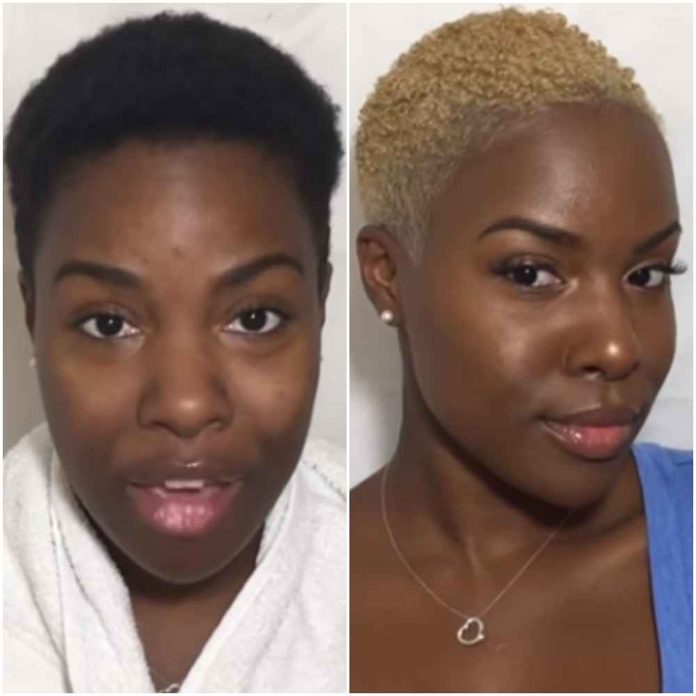 How To Safely Bleach Black Natural Short Hair To Blonde