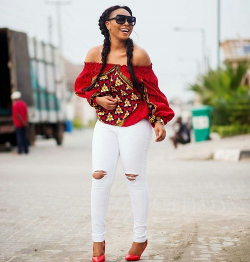 0bc91703f This Ankara blouse is another off-shoulder we definitely love.