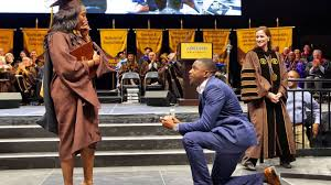Watch: This Lady Got a Masters Degree and an Engagement Ring in one Day