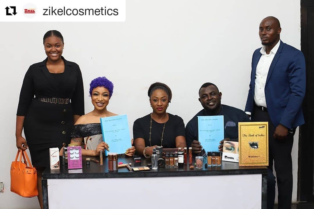 Tonto Dikeh Signs Multi-million Naira Deal With Zikel Cosmetics