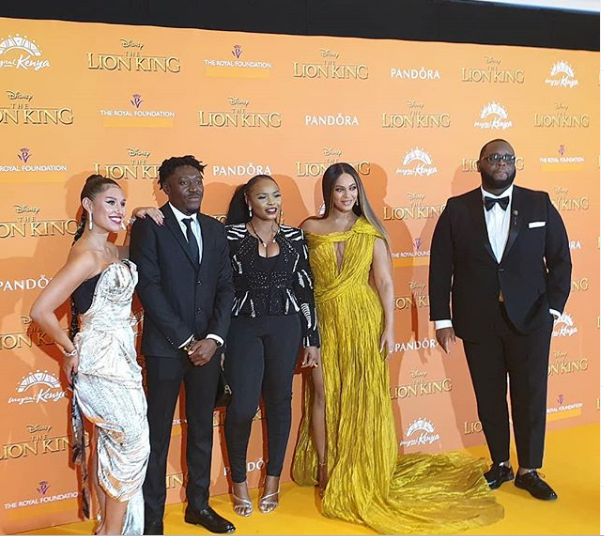 Yemi Alade Over The Moon After Meeting Beyonce At The 'Lion King Premiere'