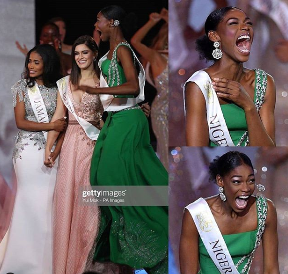 The Reaction Of Nigeria's Nyekachi Douglas When Miss Jamaica Was Announced As Miss World 2019 Has Got Everyone Talking