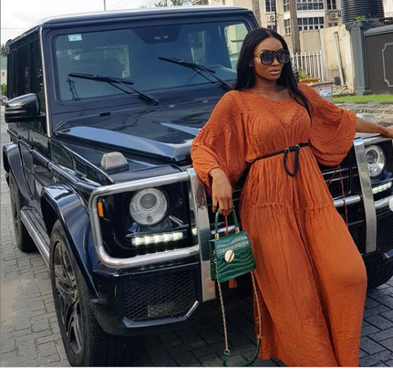 Wofai Fada Joins List Of G-Wagon Owners As She Shows Off New Ride