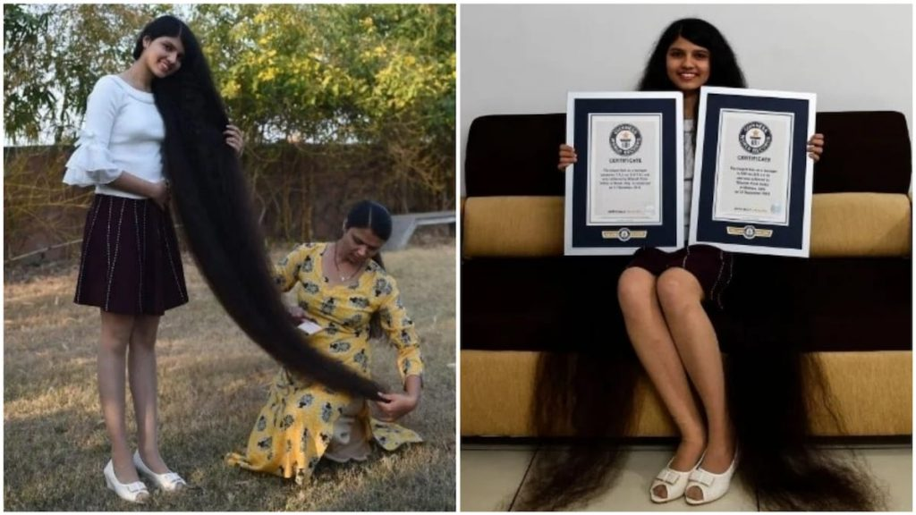 Meet Nilanshi Patel, The 17-Year-Old Who Just Set A Guinness World Record For The Longest Hair On A Teenager