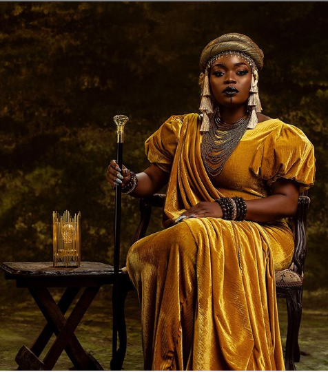 'Happy Birthday Queen Biyesi Of The World, Your Best Is Ahead of You'- Bisola Aiyeola Celebrates 34th Birthday With Queen Amina Themed Photos