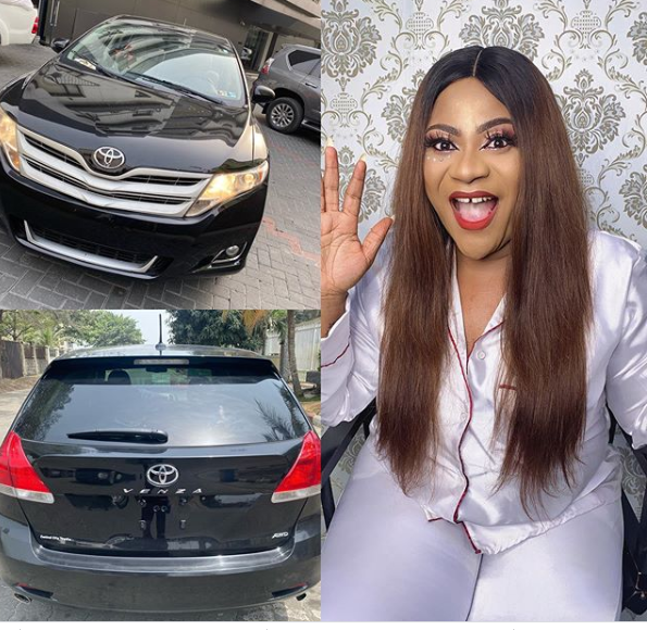 Days After Her Birthday, Nkechi Blessing Gifts Herself A Brand New Toyota Venza