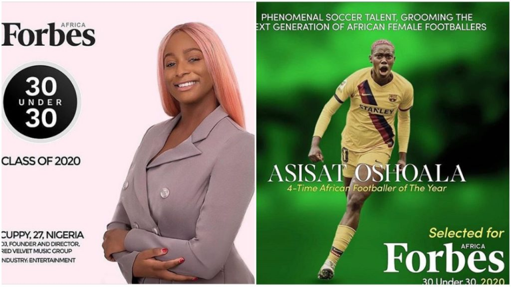 DJ Cuppy, Asisat Oshoala, Others Make 2020 Forbes 30 Under 30 Africa List (See Full List)
