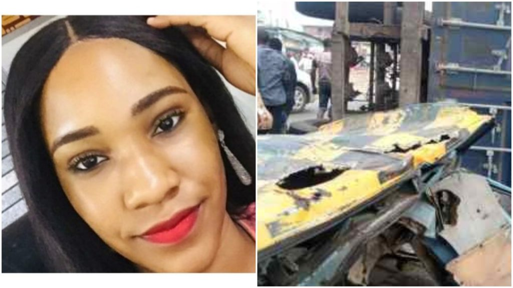 Mother Of 27-Year-Old Lady Who Died When A Container Fell On Her Bus Cries Out For Justice