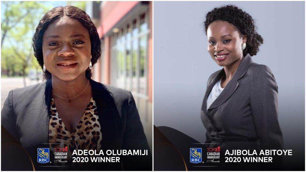 Two Nigerians, Adeola OlubamijiandAjibola Abitoye Make Checklist Of Prime 25 Canadian Immigrants For 2020 Nigerians RBC top 25 Canadian Immigrants list 1024x576