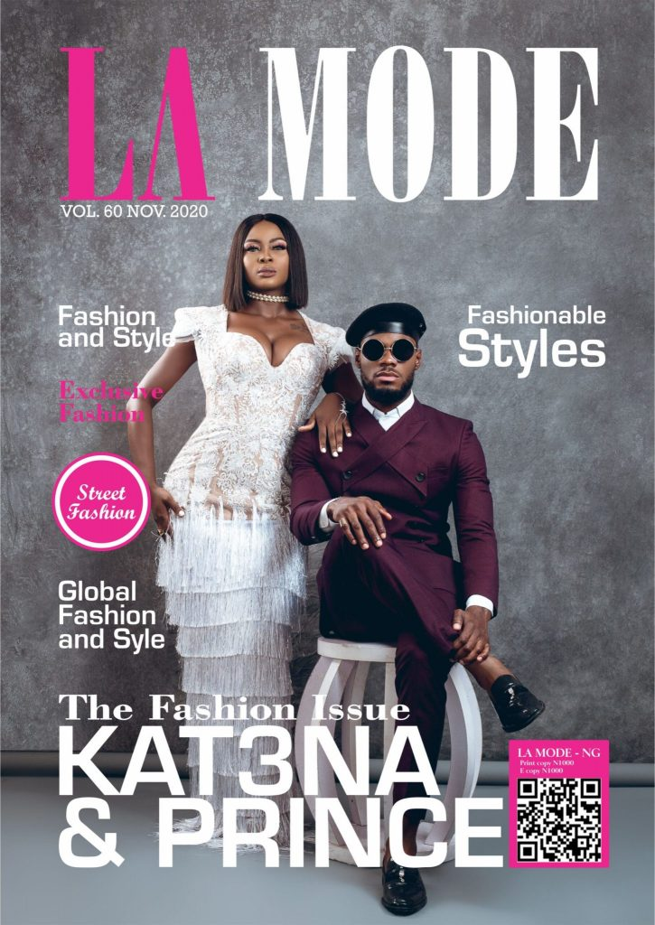 BBNaija's Ka3na & Prince Stun On La Mode Journal Cowl For November – FabWoman Kat3na Prince Lamodemagazine 725x1024