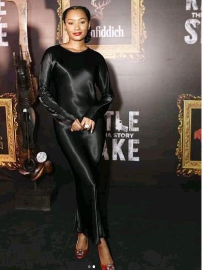 Feminine Celebrities At The Premiere temi otedola rattlesnake premiere