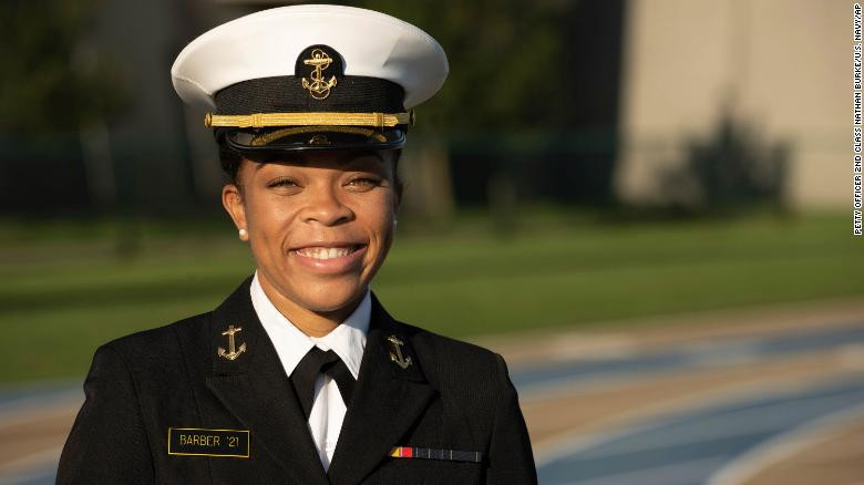 Sydney Barber Is US Naval Academy 1st Black Feminine Brigade Comander us naval academy first female black brigade commander