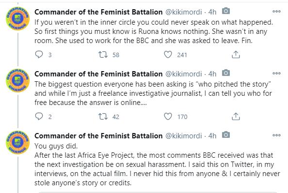 Kiki Mordi Speaks On Intercourse For Grades Documentary Allegations kiki mordi accusation 1