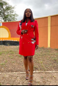 Bisola Aiyeola Crimson Outfits | Photographs bisola in red 3 203x300