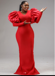 Bisola Aiyeola Crimson Outfits | Photographs bisola in red 4 219x300