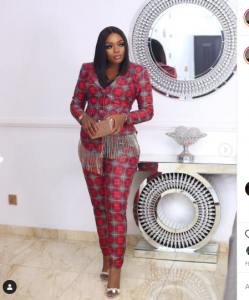 Bisola Aiyeola Crimson Outfits | Photographs bisola in red 6 249x300