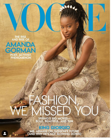 Inauguration Poet Amanda Gorman Once more Makes Historical past As She Stuns On Cowl Of Vogue journal amanda gorman vogue cover 1