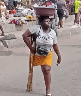 'Starvation Will Kill Me & My Daughter If I Don't Hawk – Single Mom Amputee Reveals mary daniel amputee hawker in lagos
