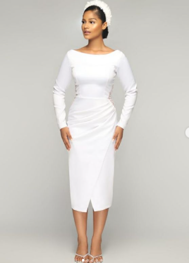 13 White Outfit Concepts To Encourage Your Court docket Marriage ceremony Look white court wedding outfit ideas 11